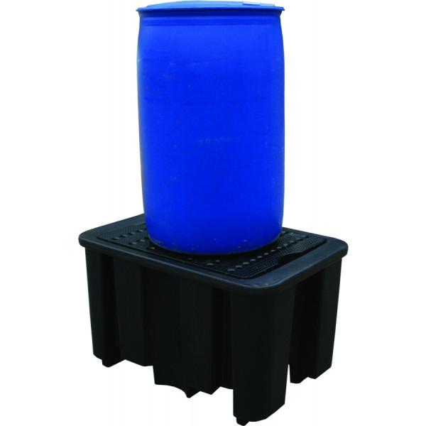 Pallet di contenimento in polietilene Essentials fusto