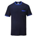 Portwest-T-Shirt-Bicolore-Texo-Contrast-TX22-Blu-Navy