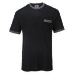 Portwest-T-Shirt-Bicolore-Texo-Contrast-TX22-Nero